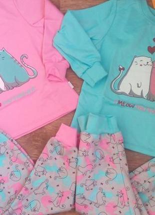 Теплая пижама бемби пж42 98-146р. піжама бембі пж42 з начосом байка