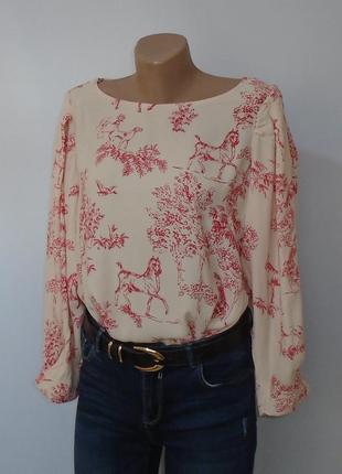 Вінтажна блуза з пишними рукавами\винтажная блуза с пышными рукавами