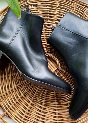 Кожаные ботинки massimo dutti 25 см стелька