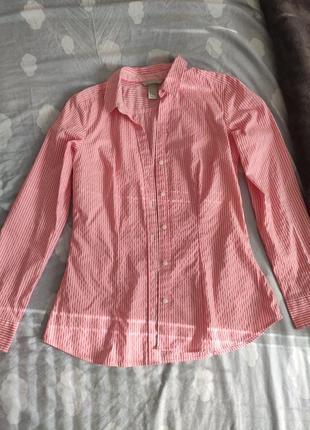 Базовая рубашка в полоску от h&м