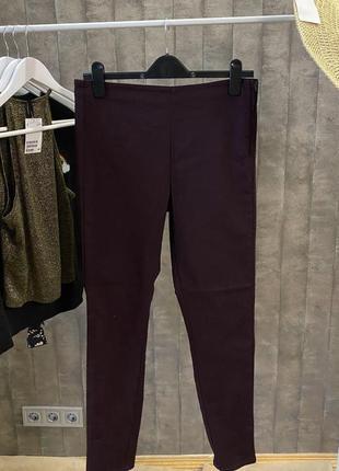 Бордовые штаны super skinny h&m + бесплатная justin доставка