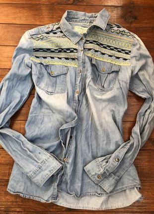 Рубашка вышита ручная работа colins без дефектов м