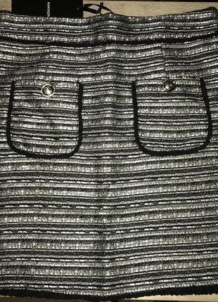 Твидовая юбка с карманами s-l🖤