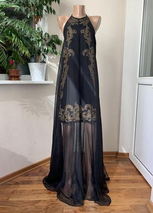 Шикарное платье туника с вышивкой