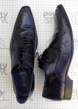 Borelli туфли кожаные мужские черные классика 43р/30 см
