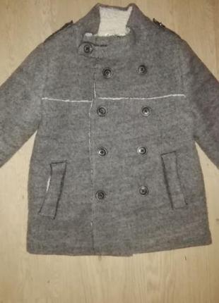 Пальто zara на мальчика 6-7 лет рост 122