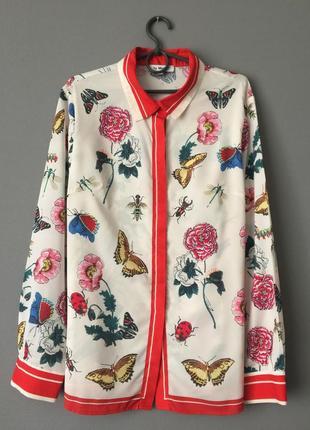 Потрясающая блузка рубашка by megyn xl-48-50 размер