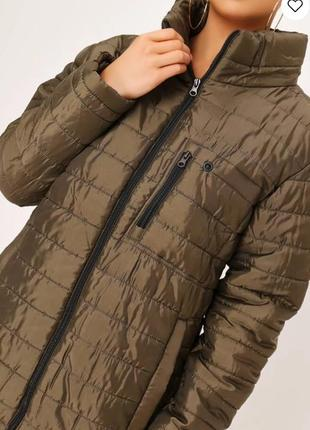I saw it first. товар из англии. стеганная деми куртка в палитре хаки