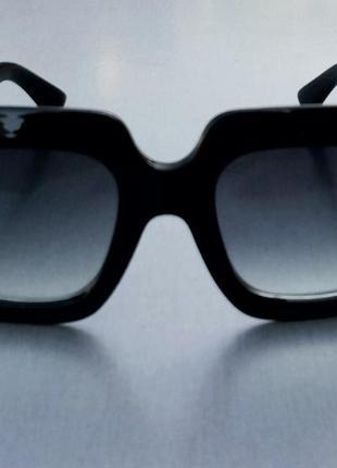 Gucci очки женские солнцезащитные большие черные с градиентом