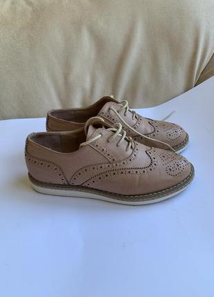 Броги, женские туфли кожа