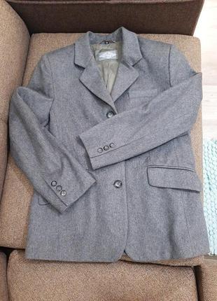 Теплый удлиненный осенний пиджак, жакет, пальто, кашемировое