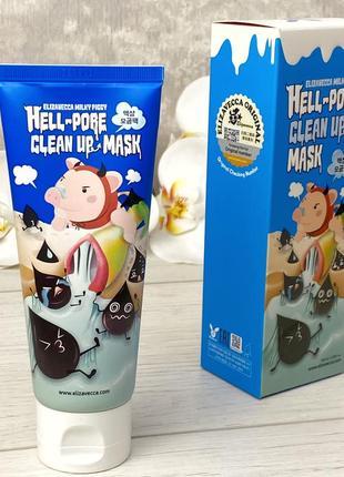 Маска для очищения пор elizavecca hell pore clean up mask к. 15007