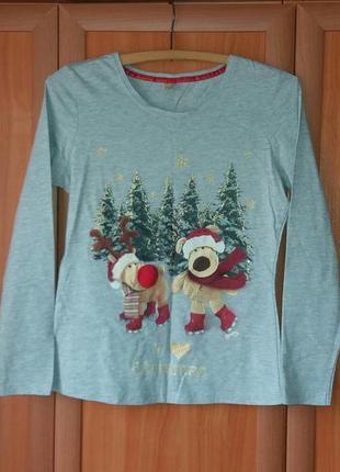 Boofle детская новогодняя футболка,реглан,лонгслив (8-10лет)