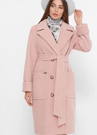 Двубортное демисезонное пальто прямого силуэта * отличное качество