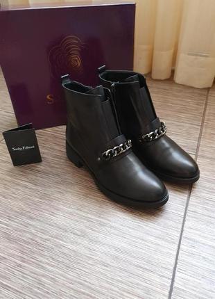 Кожаные ботинки sasha fabiani, оригинал, италия, кожа