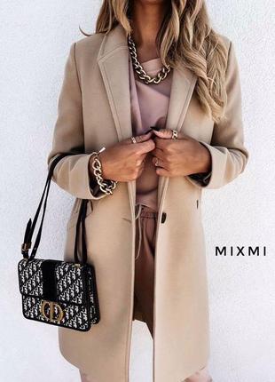 Базовое пальто миди