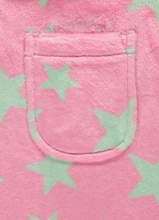 Брендовый теплый халат для ребенка из плюша с капюшоном george (джорж)