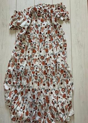 Натуральное летнее платье на плечи большого размера
