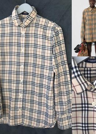Рубашка burberry в идеале s