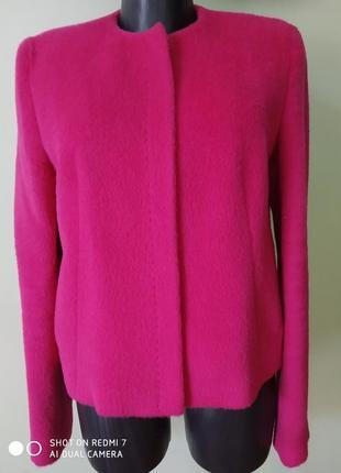 Шикарная брендовая курточка из шерсти альпаки(75% альпака,25% шерсть) st.emile