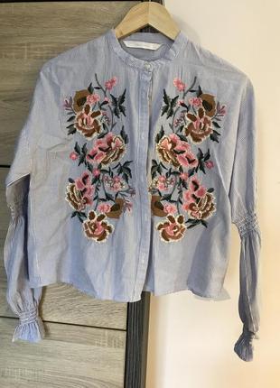 Супер модная кофточка рубашка zara