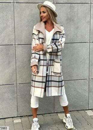 Кашемировое пальто с атласной подкладкой