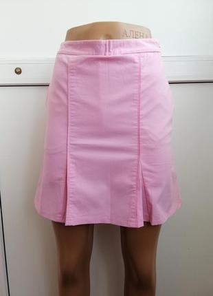 Шорты-юбка розовые короткие