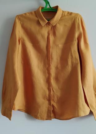 Рубашка лен льняная marks & spenser