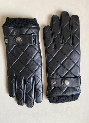 Перчатки кожаные мужские утеплённые премиум бренд profuomo размер 8,5