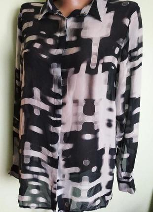 Шелковая рубашка, блуза iceberg (marc cain)