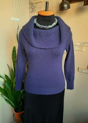 Шикарный шерстяной свитер с хомутом