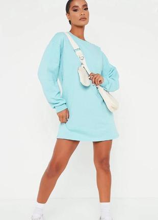 I saw it first. англия. платье футболка оверсайз в мятно-голубой палитре.
