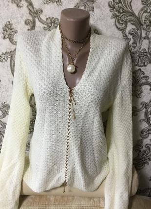 Красивый кружевной свитер раз 50.52