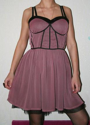 Платье шифоновое с фатиновым подъюбником