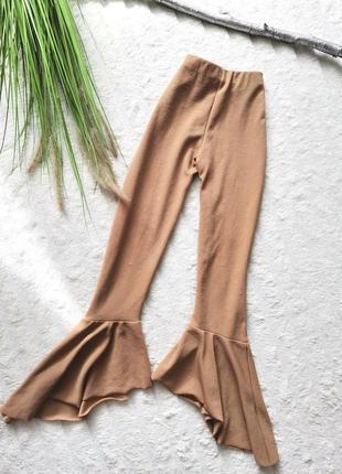 💥💥💥распродажа ! штаны высокой посадки воланы n 723