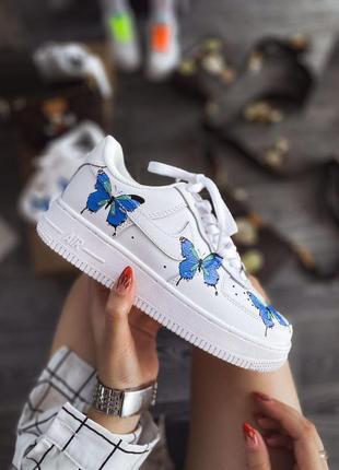 Шикарные женские кроссовки nike air force butteryfly найк