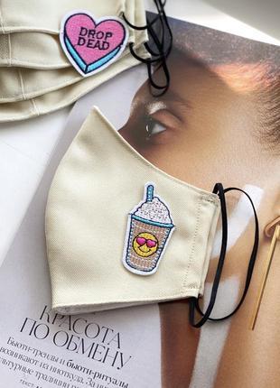 Маска, тканевая маска,защитная многоразовая маска