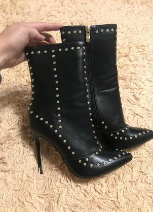 Черевики ботинки з стразами lamoda