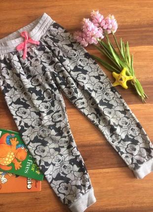 Трикотажные джоггеры,штанишки, брючки для малышки h&m4-5 лет.