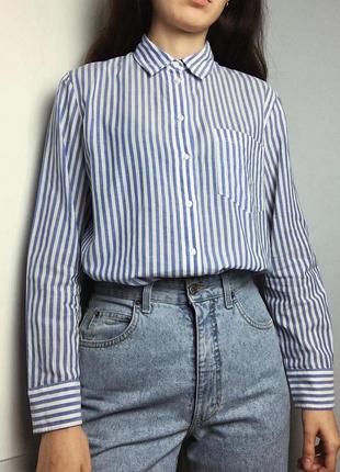 Хлопковая рубашка в полоску