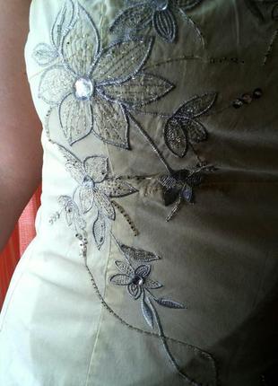 Офигенное летнее платье с ручной вышивкой