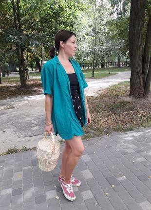 Шелковая винтажная блуза с подплечниками m-xl