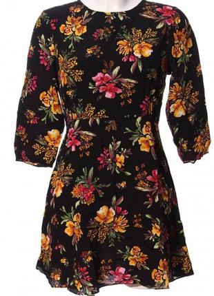 Платье в красивые цветы от zara 🌹🌾🍁