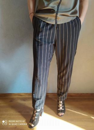 Свободные брюки в полоску h&m