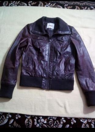 Классная фирм.кожаная куртка