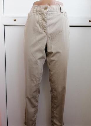 Брюки штаны бежевый тонкие riani