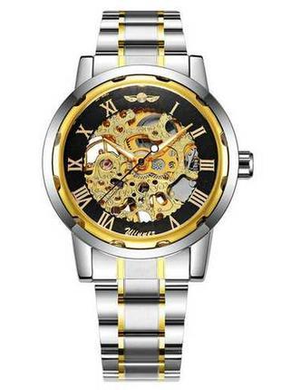 Часы winner 8012с automatic silver-black-gold