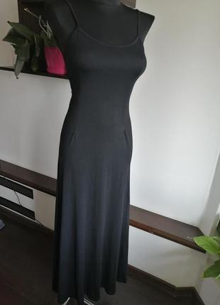Платье длинное макси чёрное
