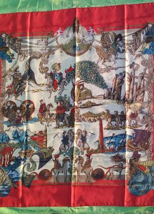 Винтажный шелковый платок hermès, au fil de la soie, оригинал