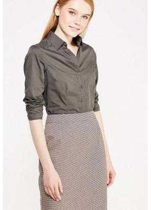 Стильная рубашка блузка с воротником апаш piazza italia италия